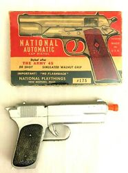 1950 National Army Unfired Toy .45 Cap Gun And Box