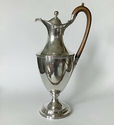Antique English George 111 18th C Sterling Silver Peter And Ann Bateman Wine Ewer