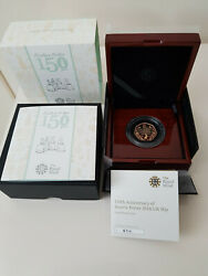 2016 Beatrix Potter Peter Rabbit 50p Gold Proof Coin From The Royal Mint New