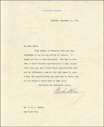 Woodrow Wilson - Typed Letter Signed 12/11/1912 With Co-signers