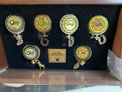 John Deere Tractor Pocket Watch Collection Andndash 6 Pieces New