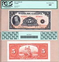 1935 5 Bank Of Canada Of Wales In Pcgs Choice Unc64. Bc-5