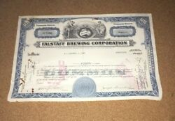 A G Edwards Issued Falstaff Brewing Co 1967 St Louis Mo Beer Stock Certificate