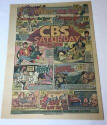 1975 Cbs Cartoons Ad Valley Of The Dinosaurs,far Out Space Nuts,shazam,isis...