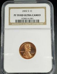 2002 S Proof Lincoln Memorial Cent Penny Ngc Pf70 Ucam Key Date In 70