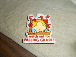 1980s Ziggy Puffy Falling Grades Sticker Vintage Collectible Item