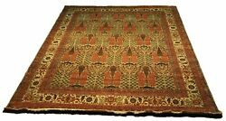 Agra Durable New All-over Design Beige Wool Authentic Handmade Rug 9 X 12 Rug
