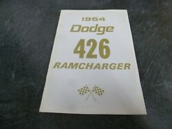 1964 Dodge 426 Ramcharger Coupe Owner Operator Manual User Guide Original