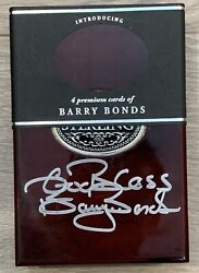 2006 Topps Sterling Barry Bonds Signed Cherry Wood Box 1 Of 1
