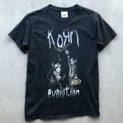 Rare Black Hanes Korn Evolution Rock Band Metal Music T Shirt Small