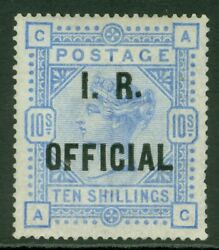 SG O10a Great Britain 10- IR official variety 'raised stop' after R. Lightly...