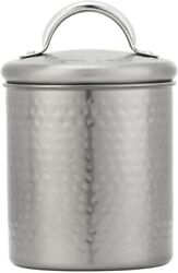 Amici Home 5an866r Gunmetal Storage Canister Small Metal Can 20 Oz Matte Silver