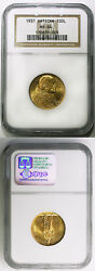 1931 100 Lire Vatican Gold Coin With Pope Pius Xi Ngc Ms64