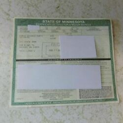 1970 Ford Mercury Cyclone Gt Minnesota Car Title Collectible Historical Document