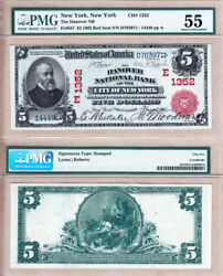 1902 5 Red Seal Hanover National Bank City Of New York Ny Fr587 Ch1352 Pmg Au55