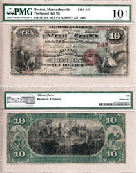 1875 $10 The Faneuil Hall National Bank of Boston. Fr.416 CH#847. PMG VG10