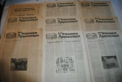 Vintage Lot Of 9 The Wisconsin Agriculturist Newspaper Magazines 1904-1905 Farm