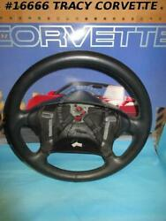 1990-1993 Corvette Leather Steering Wheel Gm 10201320 With Horn Buttons Nos