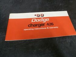 1968 Dodge Charger 426 Hemi Coupe Owner Operator Manual User Guide R/t Original