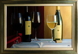 Thomas Stiltzthe Best Of Cakebread Wine Hand Signed And Enhanced Giclee Canvas