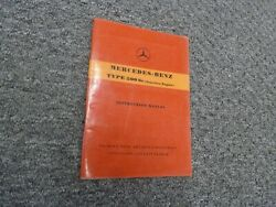 1955-1958 Mercedes Benz 300sc Fuel Injection Owner Operator Manual 1956 1957