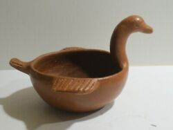 Vintage Or Antique Primitive Red Clay Pottery Bird Bowl, Native Sw