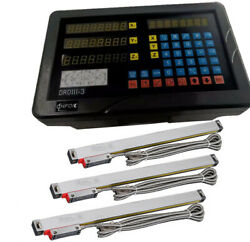 Sinpo Droiii-3m 3-axis Digital Readout + 3pcs Linear Scales Complete Dro Kit