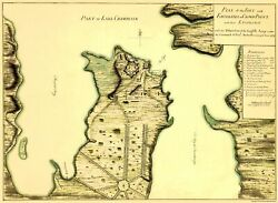 Revolutionary War - Fort Fortresses Crown Point - 1759 - 23.00 X 31.50
