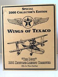 The Duck Airplane Bank 2000 Ertl Special Collector's Edition Wings Of Texaco Nib