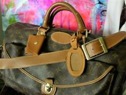 Rare Vintage Louis Vuitton Tote Suitcase Luggage Travel Accessory Bag Keepall Fc
