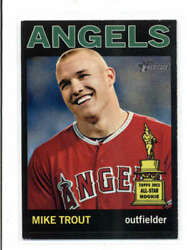 Mike Trout 2013 Topps Heritage 430 All-star Rookie Black Sp Rare Fc1742