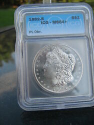 1882 S Morgan Icg Ms 64+silver Over 137 Years Old / United States History 558
