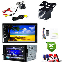 2din Car Stereo Radio Mp3 Cd Dvd Player Hd Digital Touch Screen Mirror + Camera