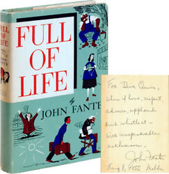 John Fante Full Of Life First Edition Inscribed To Richard Quine Signed 110467