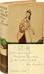 Lois Lenski Bound Girl Of Cobble Hill Signed First Edition 1938 136529