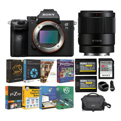 Sony Alpha A7 Iii Full Frame Mirrorless Camera With 35mm F/1.8 Lens Bundle