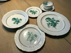 Schumann, Bavaria Germany 1945-48, 5-piece Place Setting, 12 Full Sets