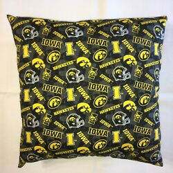Ncaa Iowa Hawkeyes College Complete 15 X 15 Cotton Pillow 12 Styles Available