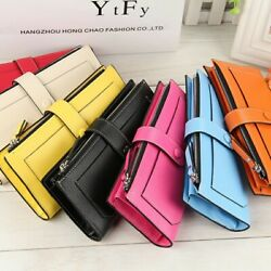 New Women#x27;s Long Leather Clutch Wallet Card Holder Cases Purse Handbags Bag US $12.89