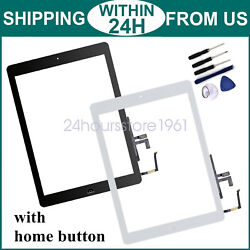 Replacement Touch Screen Digitizer + Home Button For Ipad 2017 5th A1822 A1823