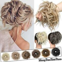 Thick X-large Messy Bun Hair Piece Scrunchie Updo Wrap Hair Extensions As Human
