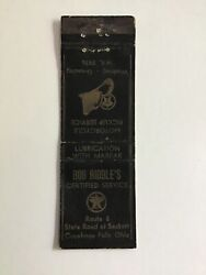 Rob Riddle's Texaco Gas Fire Chief Motorcycle Cuyahoga Falls Ohio Matchbook B3