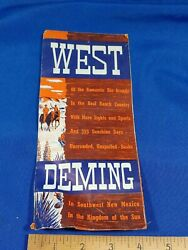 Rare Western Ranch Vacation Brochure West Deming Cowgirl Pinup New Mexico
