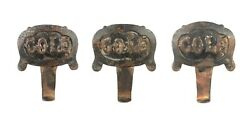 Set Of 3 Antique Cast Iron Cole Brothers Circus Carriage Wagon Buggy Steps