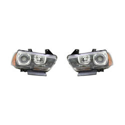 New Pair Of Headlights Fits Dodge Charger R/t Road And Track 2011 57010413ad