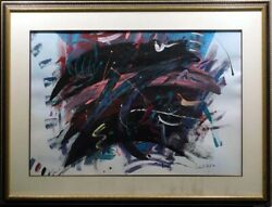 Andre Abel Clues Original Mix Media On Paper Contemporary Hand Signed