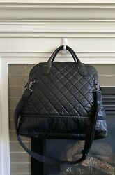 Chanel Weekender  Garments Bag Quilted Coated Canvas Horizontal Large $1,621.22