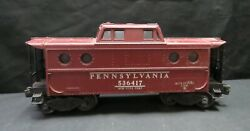 Vintage Lionel Corp Pennsylvania 536417 Maroon Caboose, Not Tested, As Is