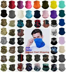 Bandana Face Mask Cover Scarf Balaclava Reusable Washable Breathable Neck Gaiter $7.86