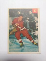 1954-55 Parkhurst 47 Keith Allen Rc - Detroit Red Wings Rookie